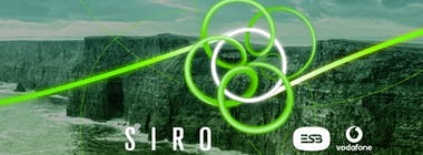 SIRO logo in front of the Cliffs of Moher