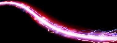 Purple fibre broadband cable