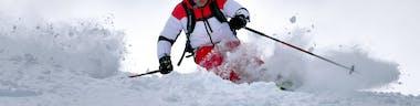 man on skiing holiday
