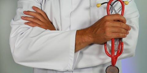 doctor holding a stethoscope