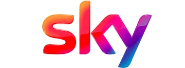 Sky broadband and TV logo banner
