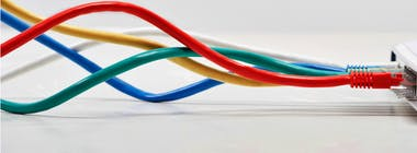 Colourful ethernet cables