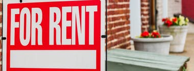 Sign on house for rent