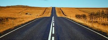 Open road in rural setting