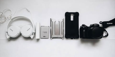 Selection of gadgets in a row