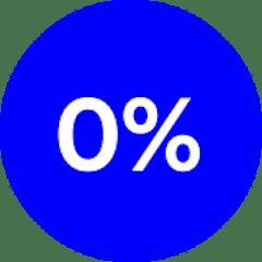 0 percent interest